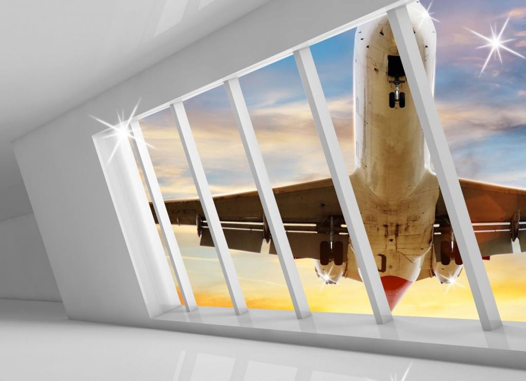 3D obraz na stěnu Letadlo, 90x60 cm