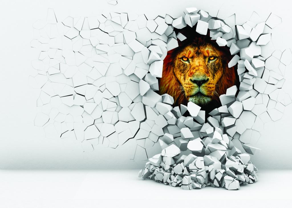 3D obraz na stěnu lev, 120x80 cm