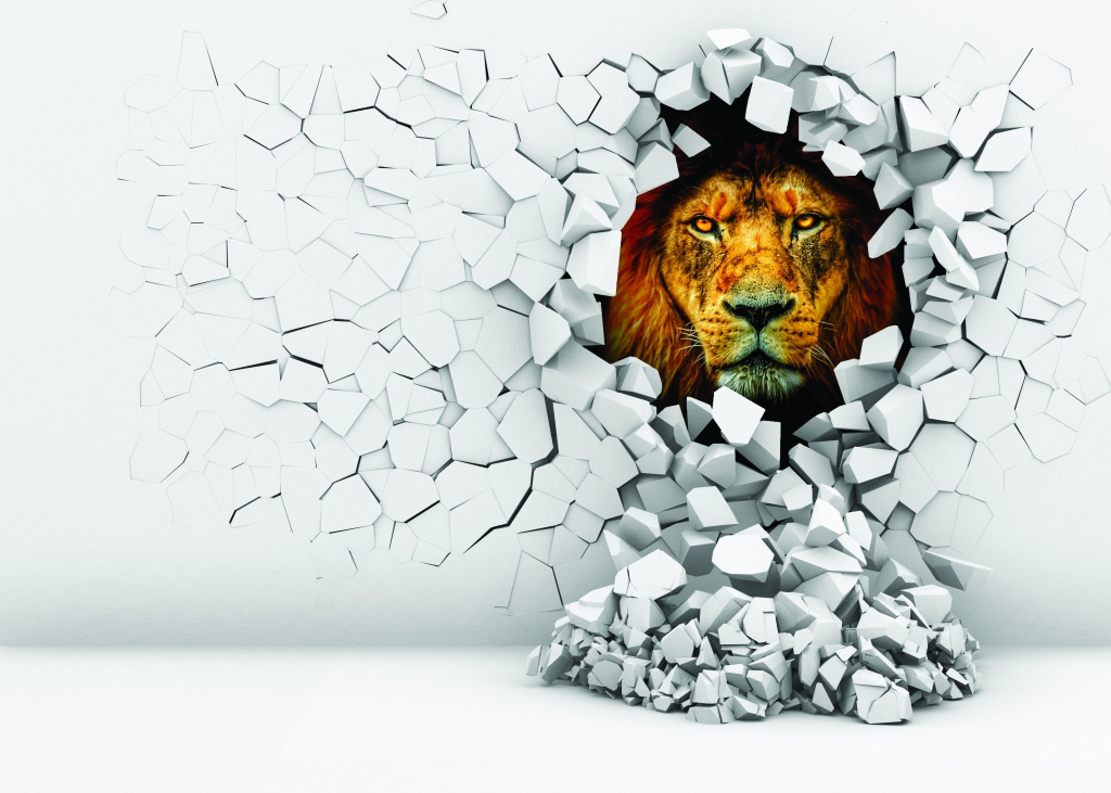 3D obraz na stěnu lev, 90x60 cm