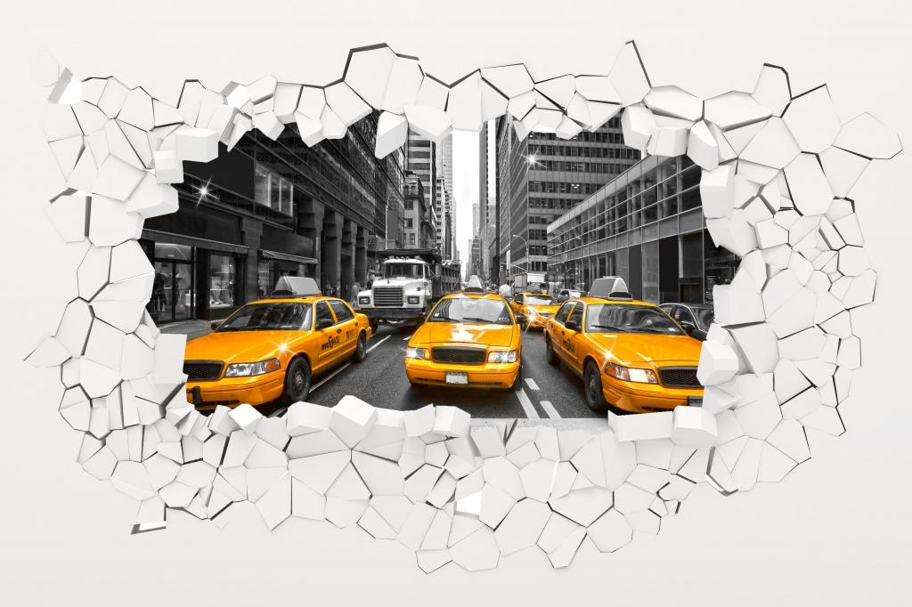 3D obraz New York, 90x60 cm