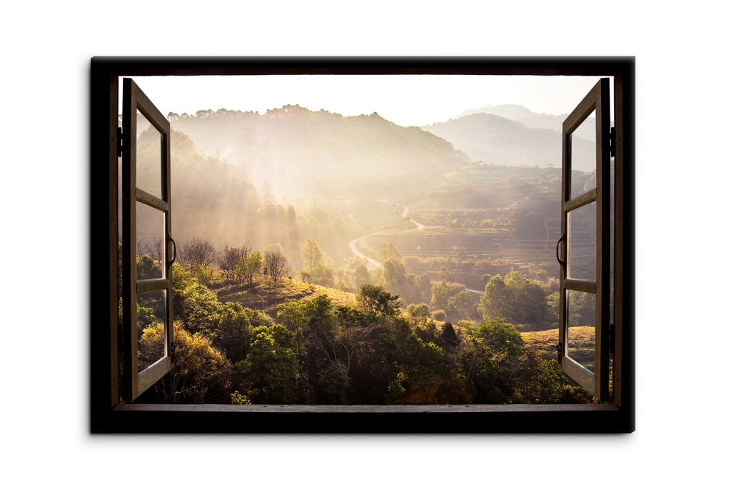 3D obraz Okno do Thajské přírody, 90x60 cm