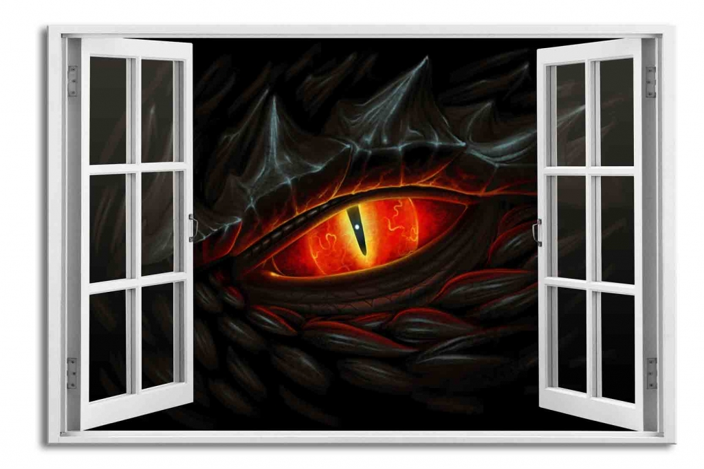 3D obraz Okno dračí oko, 90x60 cm
