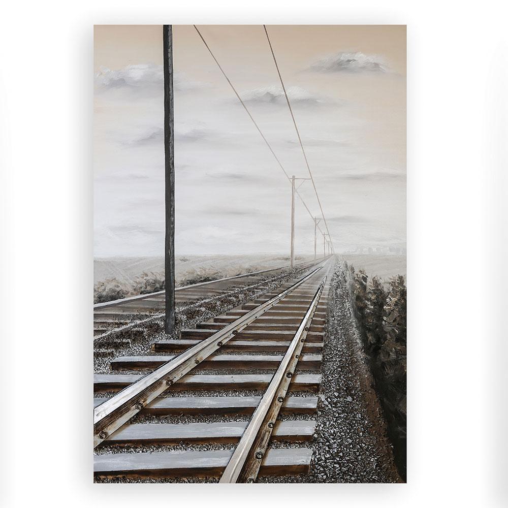 3D obraz Railroad 150 cm, olej na plátně