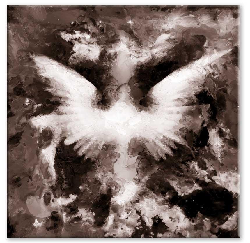 Abstraktní obraz Andělská křídla I, 40x40 cm