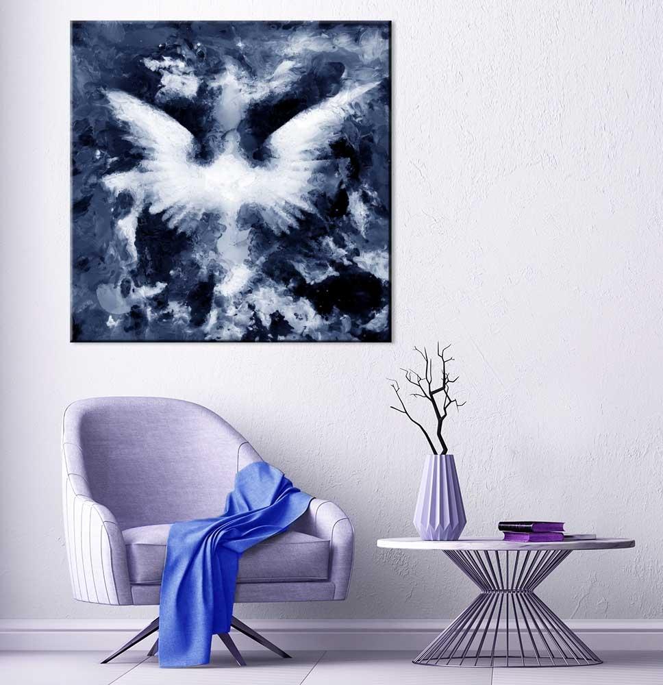 Abstraktní obraz Andělská křídla II, 40x40 cm