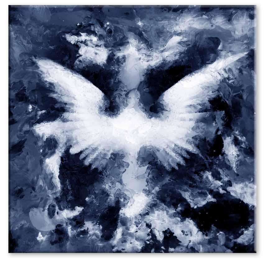 Abstraktní obraz Andělská křídla II, 80x80 cm