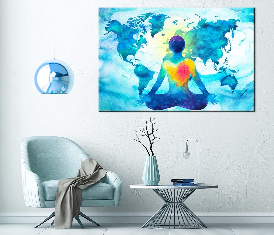 Abstraktní obraz Mapa meditace, 120x80 cm