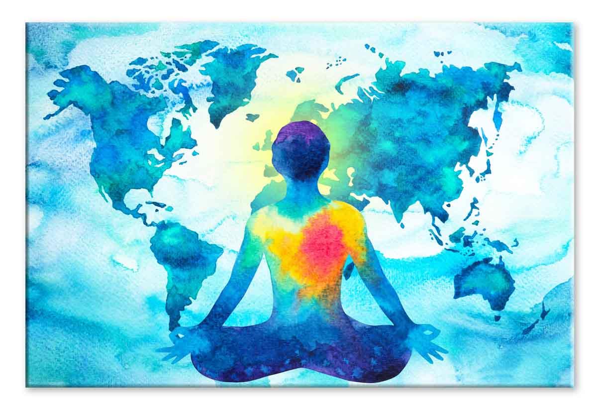 Abstraktní obraz Mapa meditace, 90x60 cm