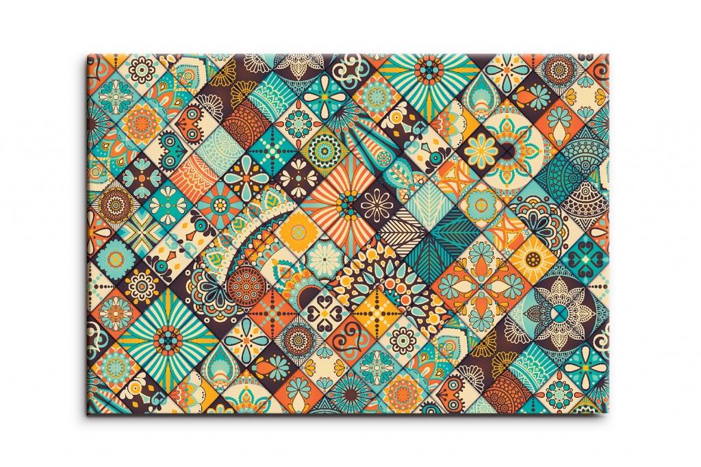 Abstraktní obraz Mozaika, 90x60 cm