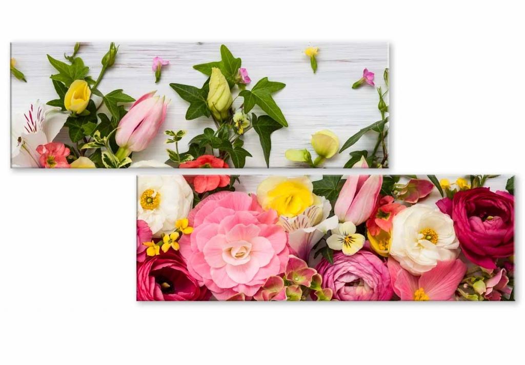 Atypický obraz něžné květiny, 120x60 cm