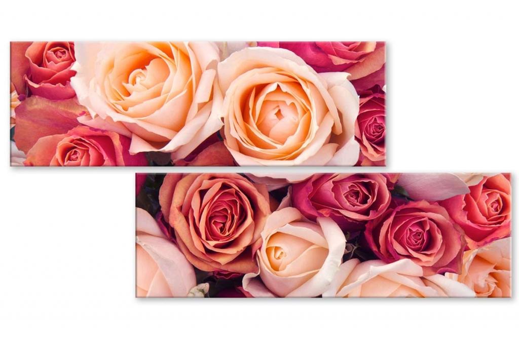 Atypický obraz Růže, 100x50 cm