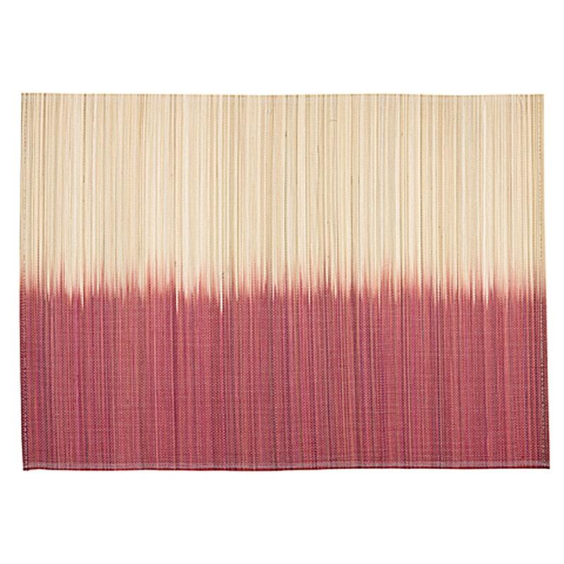 Bambusové prostírání Angie, 33x45 cm (SET 4 ks), korálová