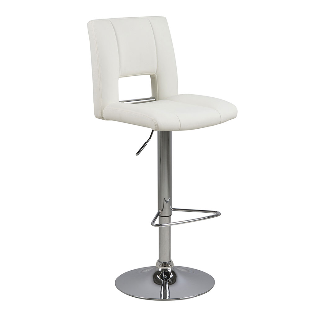 Barová stolička Larry (SET 2 ks), biela, biela - NA SKLADE