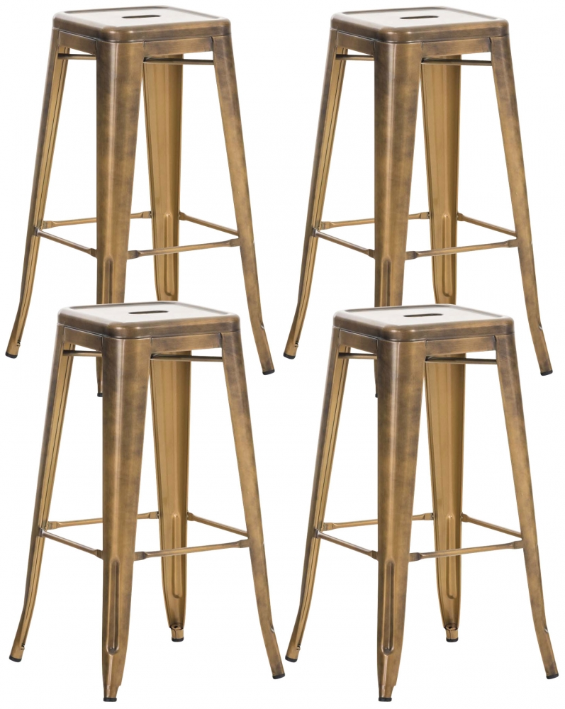 Barová stolička Lisa (SET 4 ks), zlatá