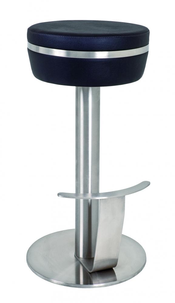 Barová stolička Telida, 78 cm, nerez / černá