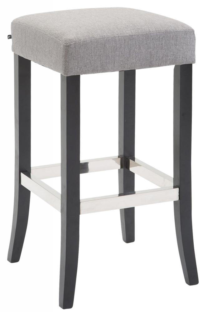 Barová stolička Tiana, světle šedá / černá