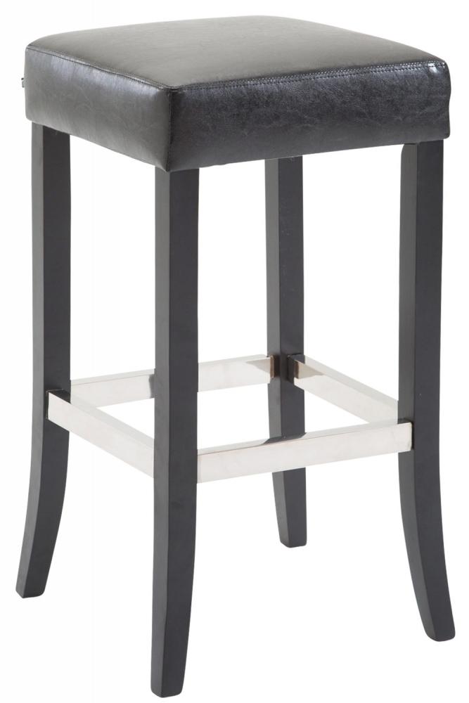 Barová stolička Tiana, syntetická kůže, černá
