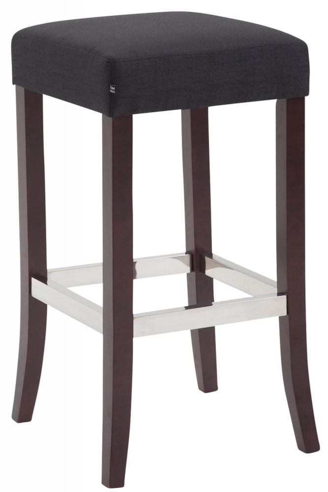 Barová stolička Tores, černá / hnědá