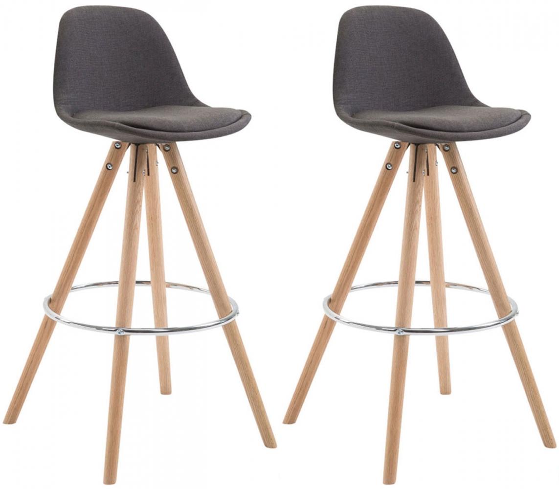 Barová židle Alanis (SET 2 ks), šedá