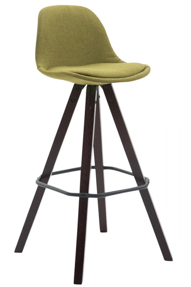 Barová židle Ariva, světle zelená / hnědá