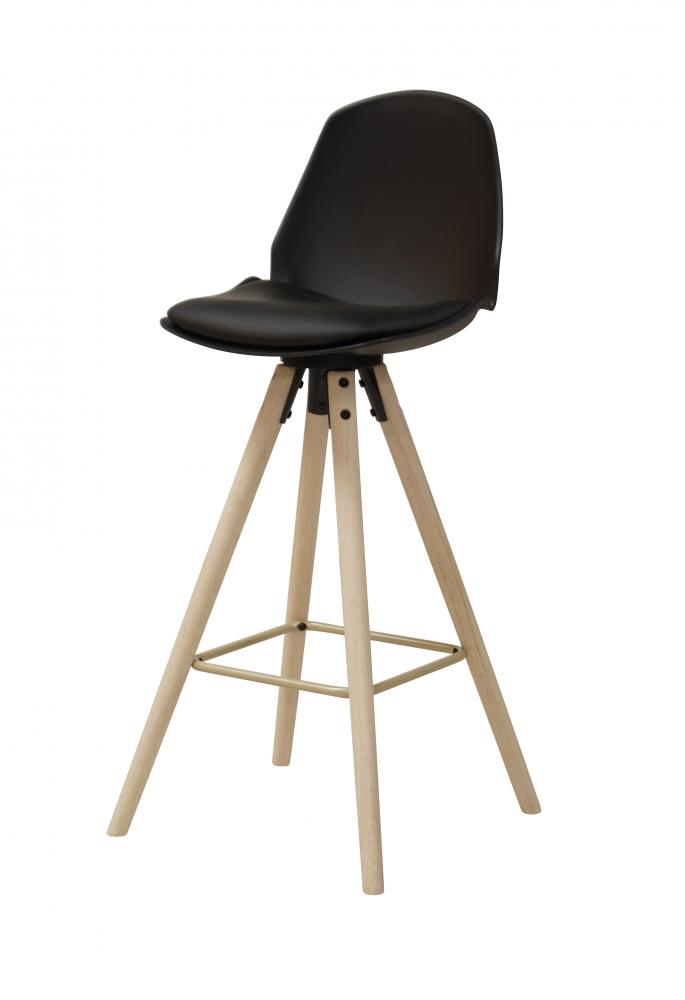 Barová židle Aslo, černá