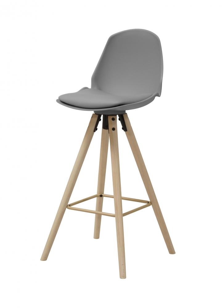Barová židle Aslo, šedá