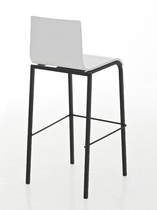 Barová židle Avion s černou podnoží (SET 2 ks) bílá