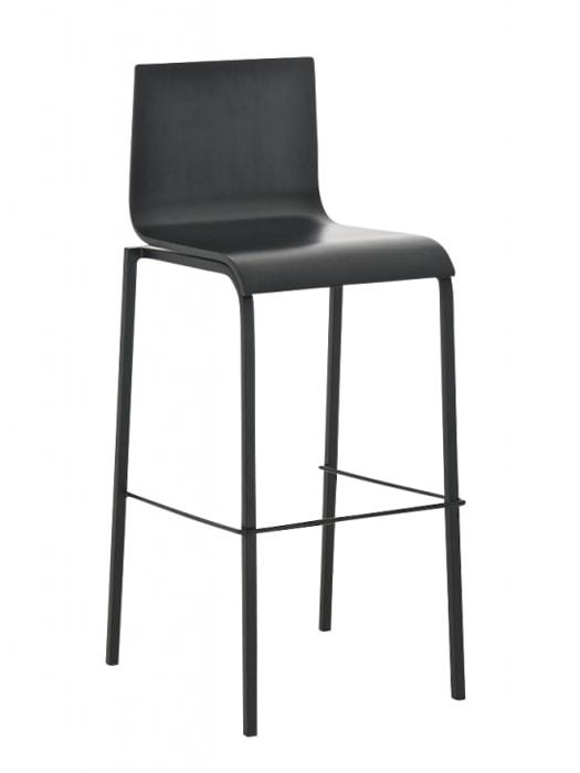 Barová židle Avion s černou podnoží (SET 2 ks) černá