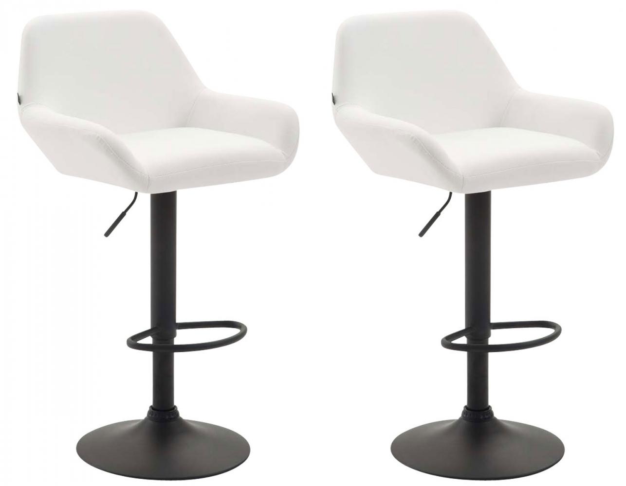Barová židle Brag (SET 2 ks), bílá