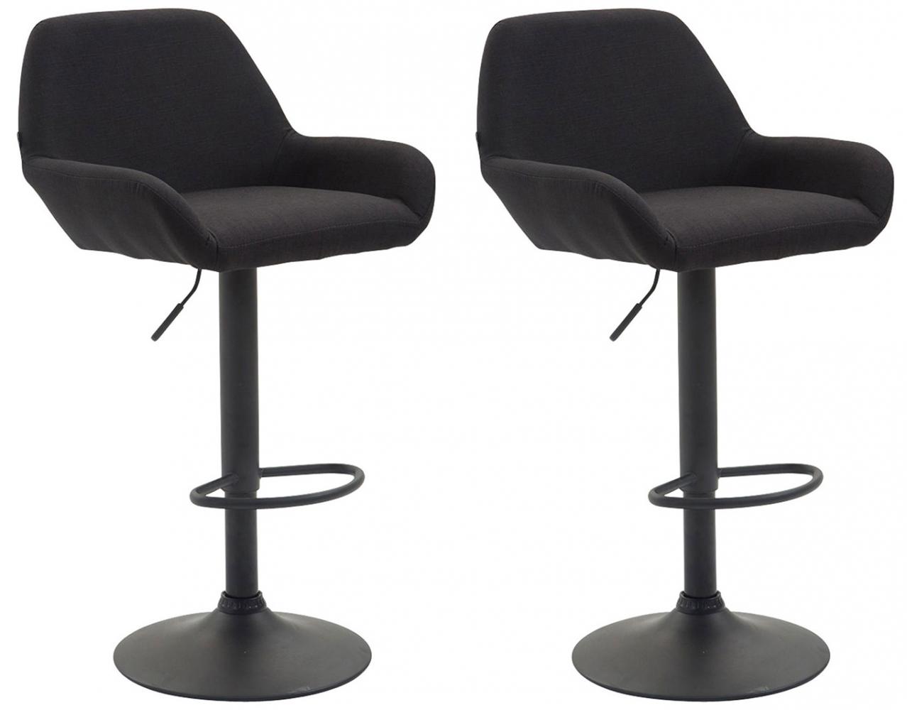 Barová židle Brag (SET 2 ks), černá