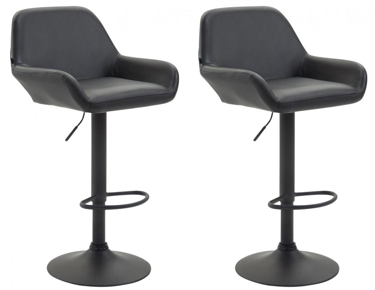 Barová židle Brag (SET 2 ks), syntetická kůže, černá