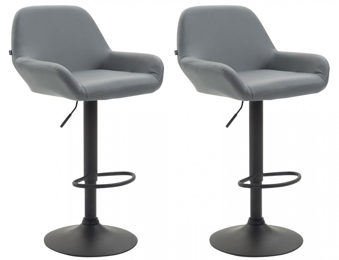 Barová židle Brag (SET 2 ks), syntetická kůže, šedá