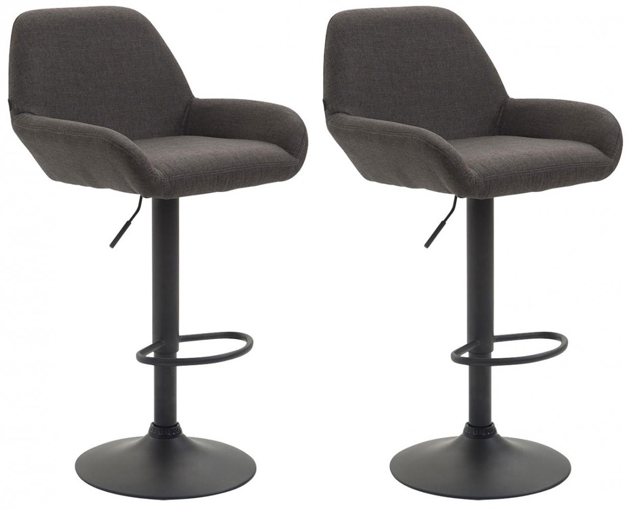 Barová židle Brag (SET 2 ks), tmavě šedá