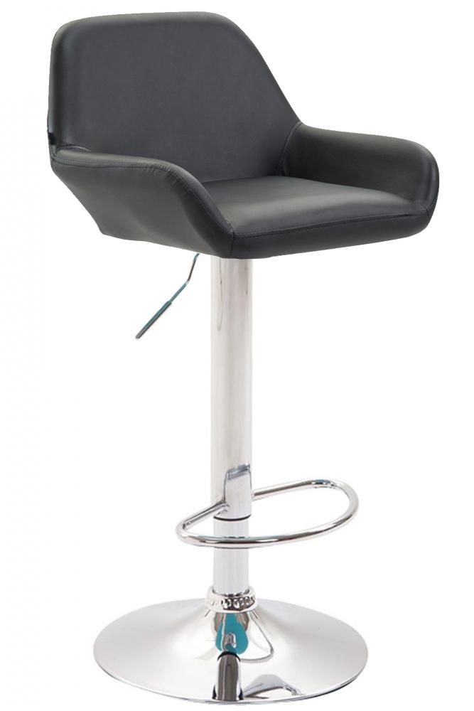 Barová židle Brag, syntetická kůže, černá