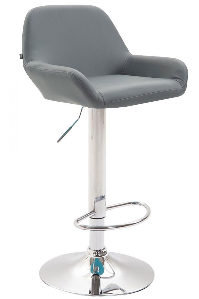 Barová židle Brag, syntetická kůže, šedá