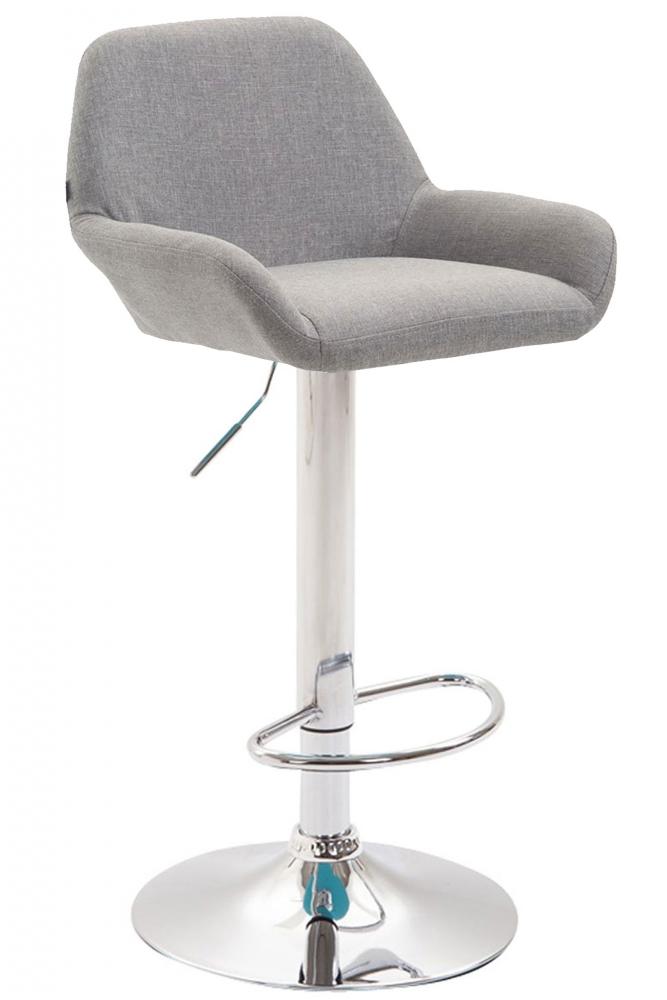 Barová židle Brag, textilní látka, šedá