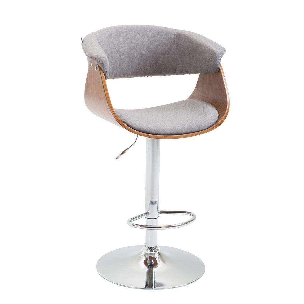 Barová židle Calais textil, ořech