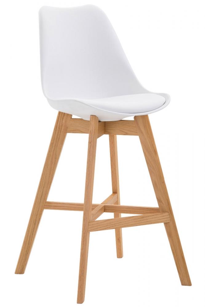 Barová židle Cane, bílá