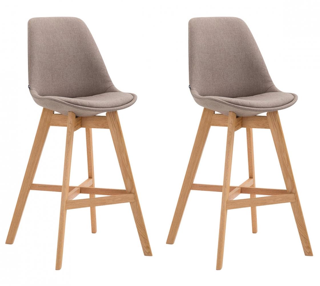 Barová židle Cane (SET 2 ks), béžová