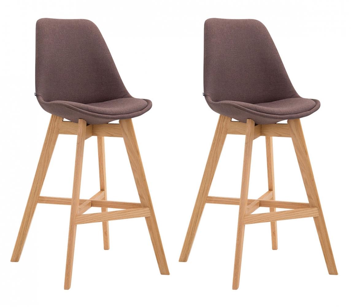 Barová židle Cane (SET 2 ks), hnědá