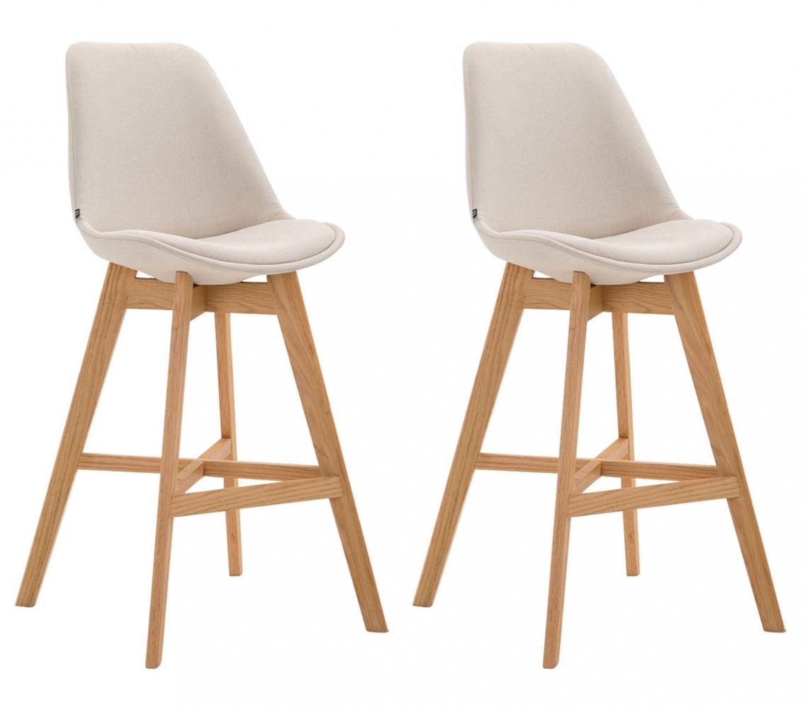 Barová židle Cane (SET 2 ks), krémová