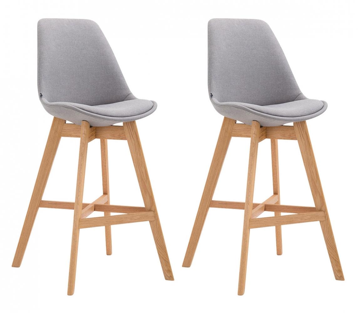 Barová židle Cane (SET 2 ks), šedá