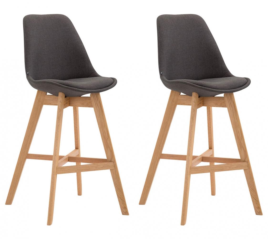 Barová židle Cane (SET 2 ks), tmavě šedá