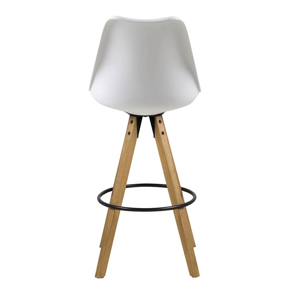 Barová židle Damian (SET 2 ks), bílá