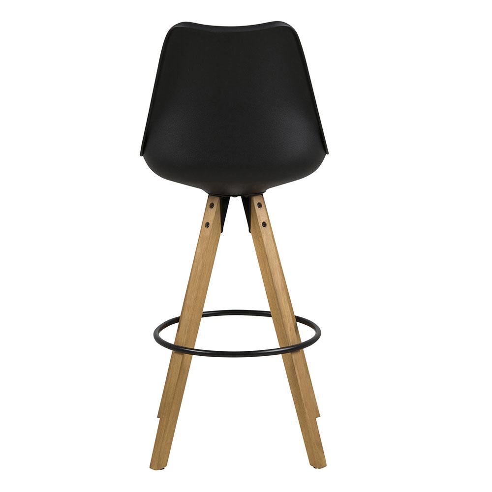 Barová židle Damian (SET 2 ks), černá