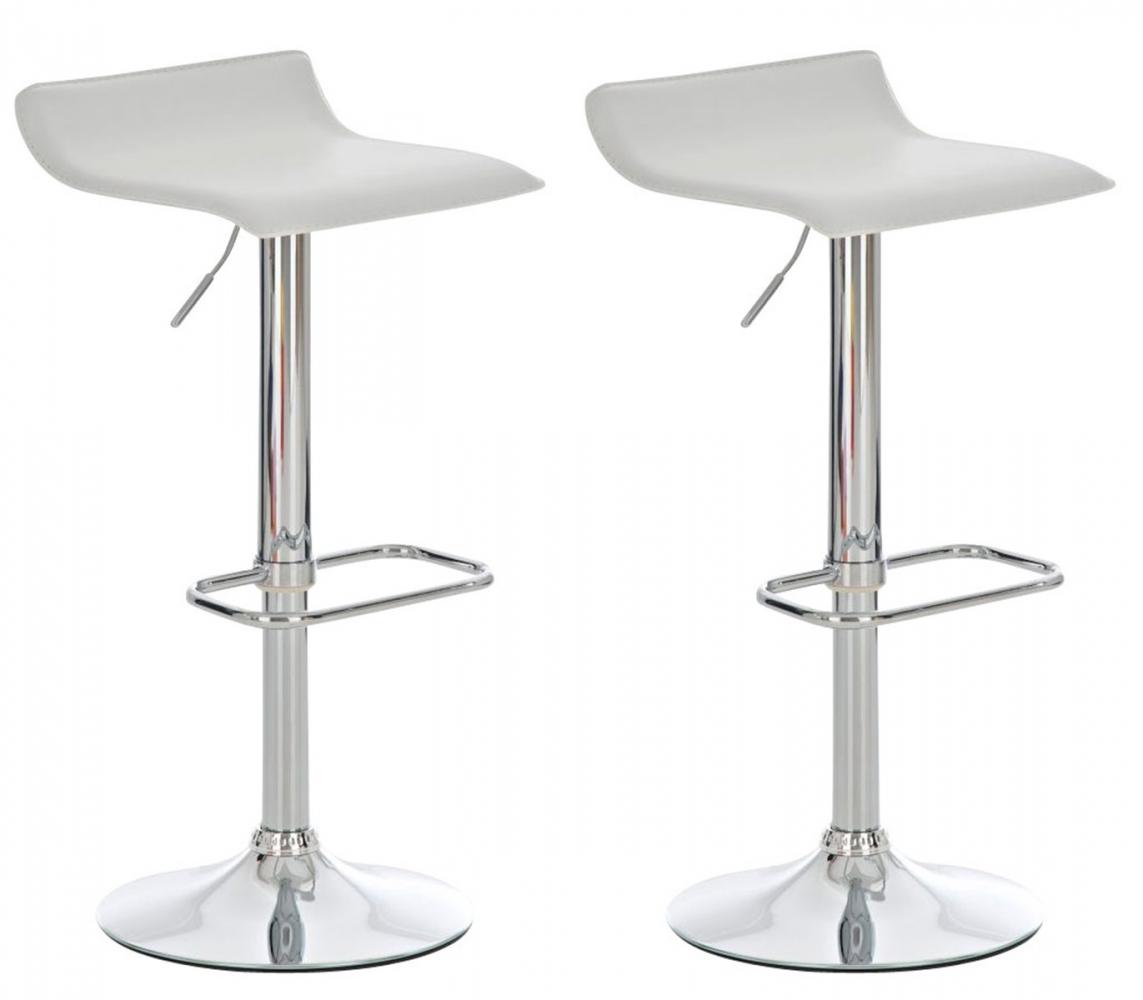 Barová židle Don (SET 2 ks), bílá