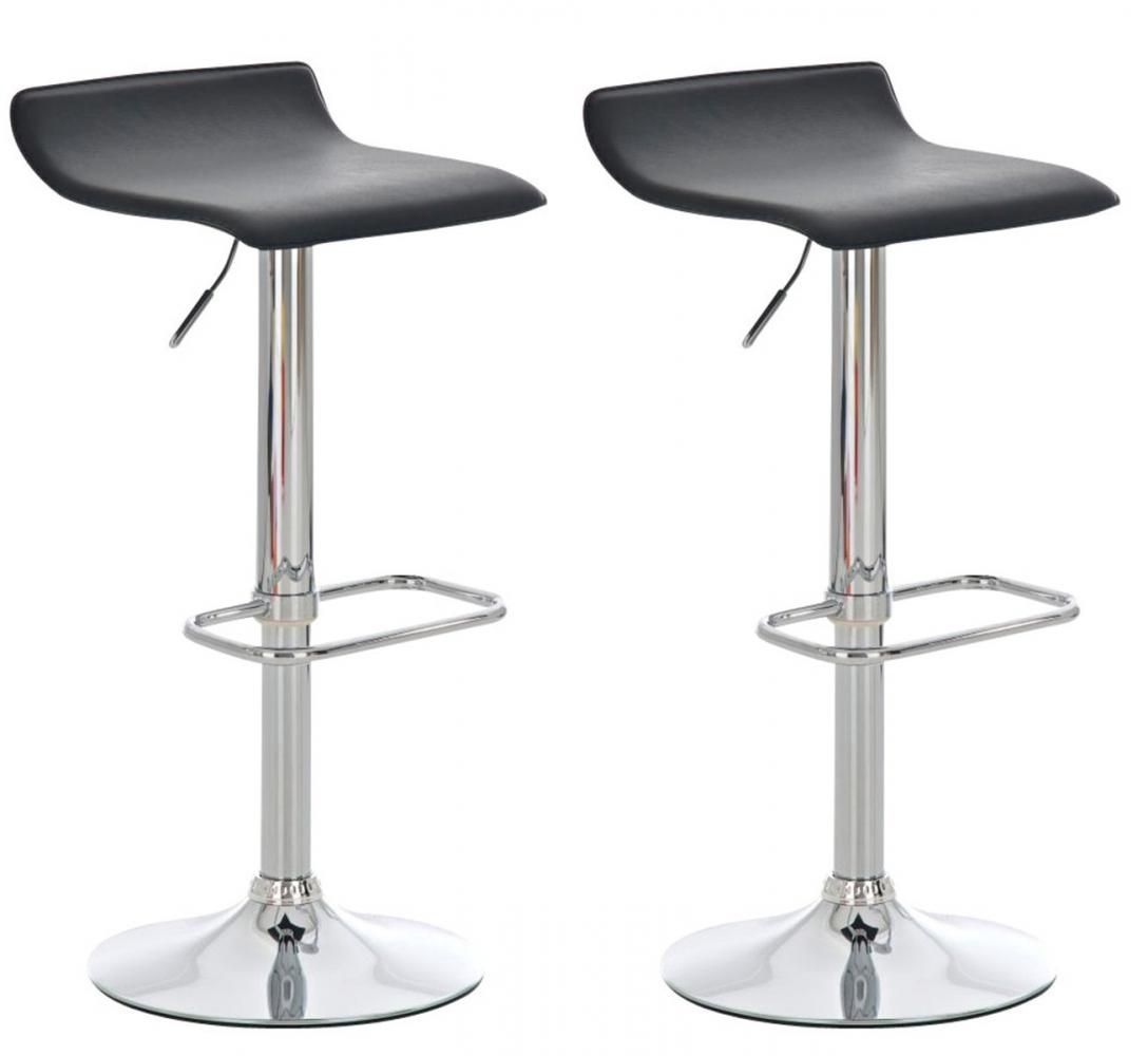 Barová židle Don (SET 2 ks), černá