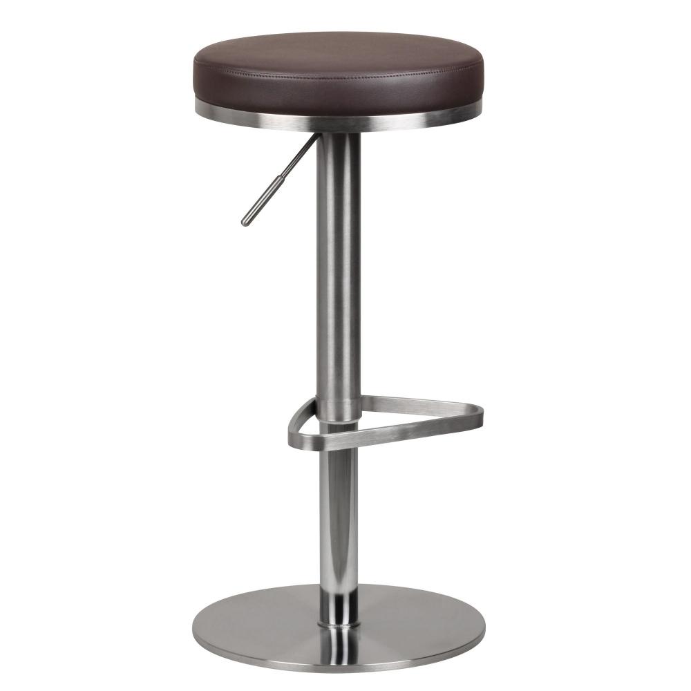 Barová židle Ebba, hnědá / nerez
