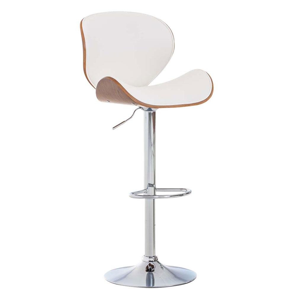 Barová židle Edward ořech, bílá