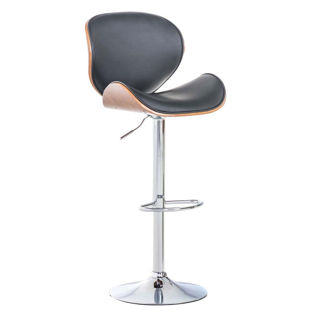 Barová židle Edward ořech, černá